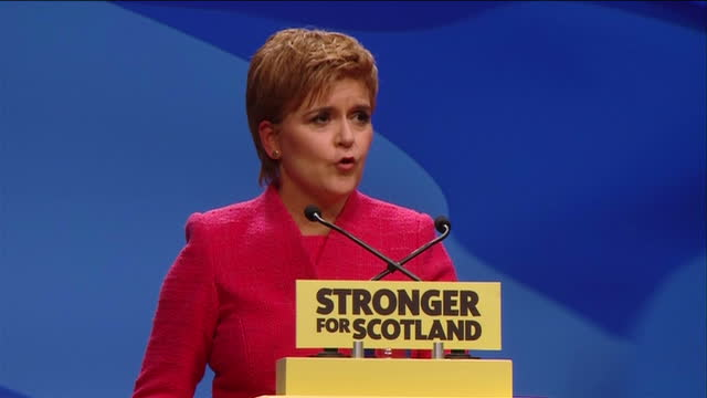 This clip contains a black gap third party content removed VOICED Nicola Sturgeon appealed to people from across the UK who oppose the decision to...