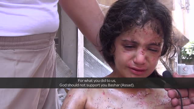 This clip contains black gaps and is part one of a two part report VOICED Aleppo's mayor has told Sky News there's a holocaust taking place in his...