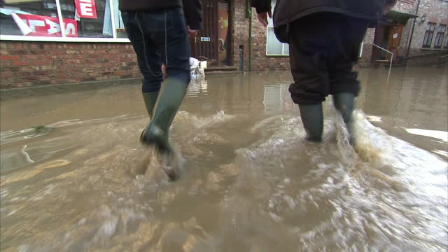 This clip contains black gaps third party content removed VOICED After a brief respite from the stormy weather floodhit communities in the north of...