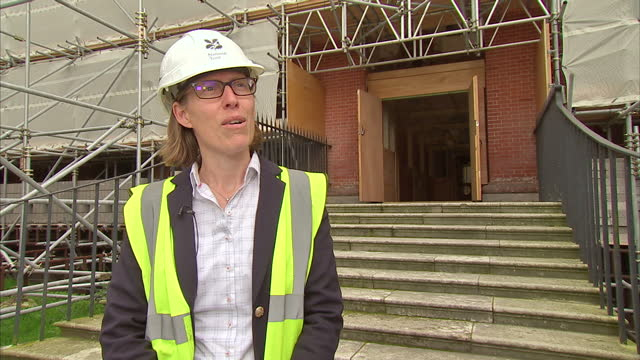 this clip contains black gaps third party content removed voiced one of britain's great stately homes is to get a new lease of life following a... - surrey england stock-videos und b-roll-filmmaterial