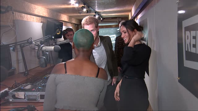 This clip contains music playing in the background that may require additional third party clearances CLEAN Interior shots of Prince Harry and Meghan...