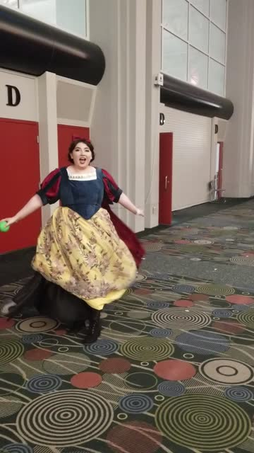 this cosplay, created by bubblybee, consists of a transforming dress that switches between the evil witch offering a poisoned apple to snow white.... - princess stock videos & royalty-free footage