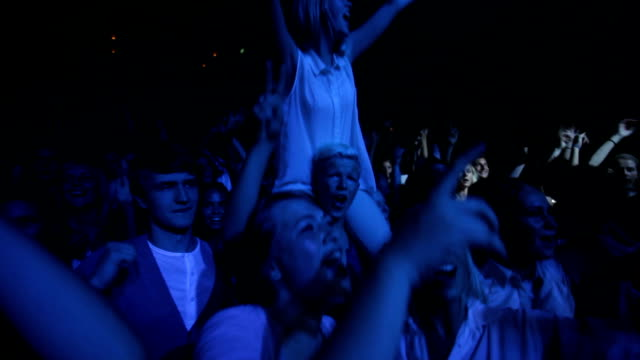 this crowd's going wild! - concert hall stock videos and b-roll footage
