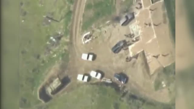 vídeos de stock, filmes e b-roll de this footage provided by azerbaijani defense ministry on april 04 2016 shows a military base of the armenian armed forces is being destroyed by... - azerbaidjão