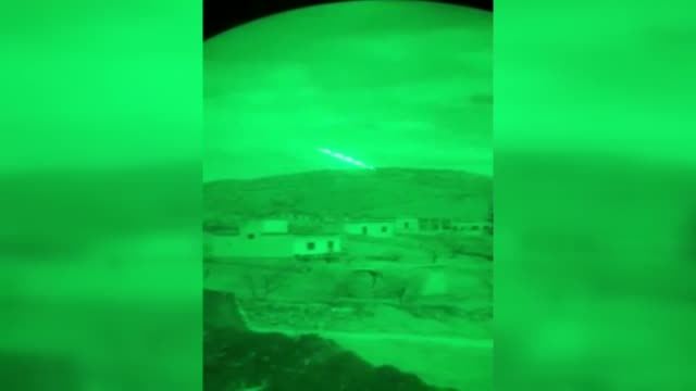 stockvideo's en b-roll-footage met this footage provided by turkish armed forces on march 02, 2018 shows terrorist targets are being hit by atak helicopters during the operation olive... - number 9