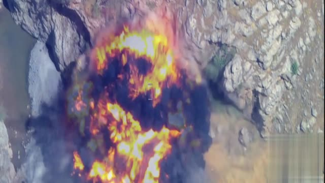 this footage provided by turkish armed forces on may 31 2017 shows pkk targets in iraq's qandil area are hit by turkish airstrikes turkish air forces... - kurdistan workers party stock videos & royalty-free footage