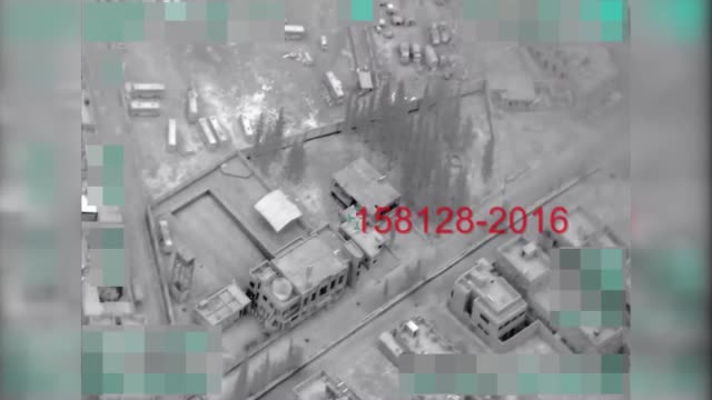 stockvideo's en b-roll-footage met this footage provided by turkish armed forces shows turkish jets destroys shelters vehicles mounted with guns and ammunition depots the latest air... - bombardement
