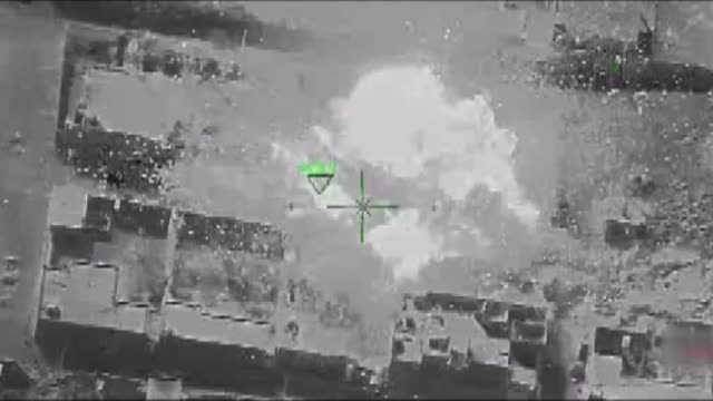 this footage provided by turkish armed forces shows turkish warplanes destroying daesh targets in syria's albab region on january 14 2017 as part of... - シリア点の映像素材/bロール