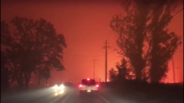 This footage shows a family escaped the wildfires that have devastated Northern California on October 12 2017 They filmed the exact moment when...
