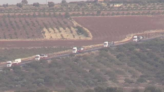 this footage taken from turkey's border province of kilis on october 16 2019 shows syrian national army members on their way to syrian border within... - union army stock videos & royalty-free footage