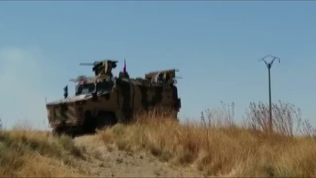 this footage taken from turkey's southeastern sanliurfa province on september 08 2019 shows turkish and us military vehicles leaving the east of... - national security agency usa stock videos and b-roll footage