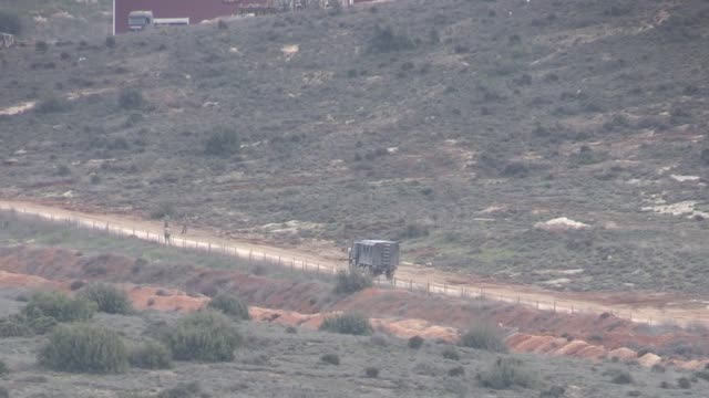 This footage taken from Turkey's southern Hatay province on the Syrian border on February 14 2018 shows Turkish Army shelling on PYD/PKK targets in...