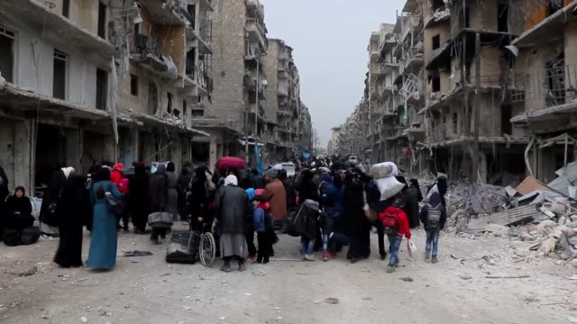 This footage taken in early December 2016 shows Syrian citizens fleeing east Aleppo to safer areasThe United Nations SecretaryGeneral is 'alarmed...