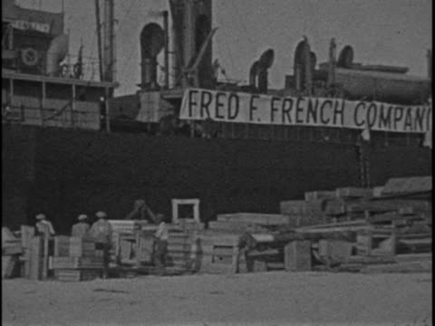 this home movie from texas oilman eb hopkins captures scenes of classic cars and ships at the port of miami in 1925 - southwest florida stock videos & royalty-free footage