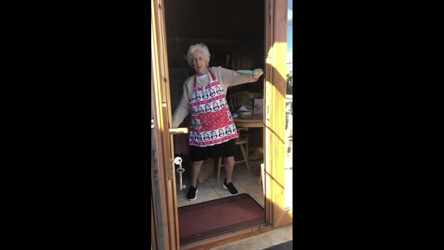 this irish grandma exercising with a resistance band is the perfect motivation to keep your workout routine going during the covid-19 lockdown.... - grandparent stock videos & royalty-free footage