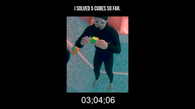 this is a dangerous attempt on the current unofficial record in solving rubik's cubes underwater. the guinness world record is 5 cubes, but the... - puzzle stock videos & royalty-free footage