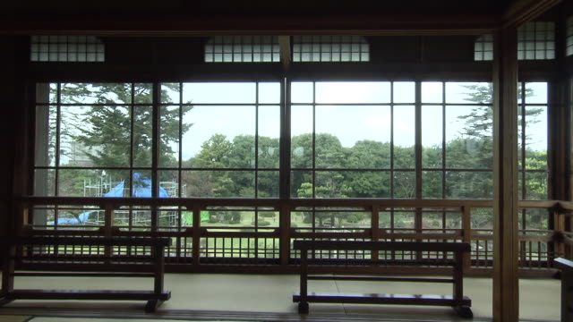 """vídeos de stock, filmes e b-roll de this is a house of denemon ito known as """"king of coal mine in chikuhoarea"""" and his wife byakuren yanagiwara a famous poet this house is registered as... - washitsu"""