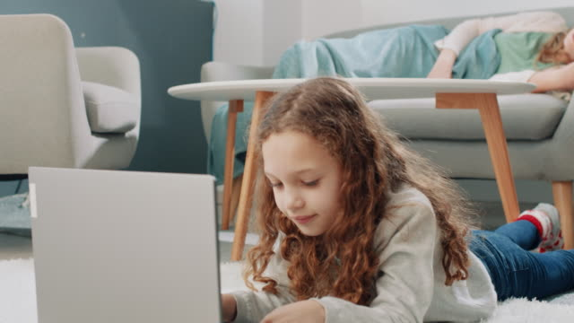 this is difficult homework! - baby girls stock videos & royalty-free footage