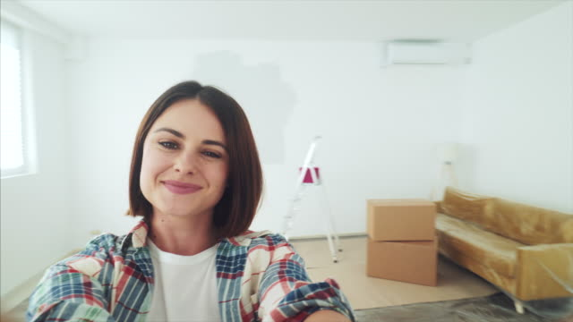 this is my new apartment! - selfie stock videos & royalty-free footage