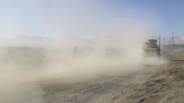 this is the afghan national army in action demonstrating the value of their armored security vehicles supplied by the us for fighting the taliban - afghan national army stock videos and b-roll footage