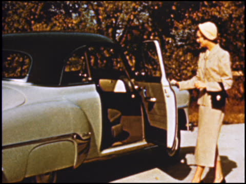 this is what made the 1950s so iconic in american automotive styling chevrolet proudly promotes its exterior and interior design cues for 1952... - chevrolet stock videos & royalty-free footage