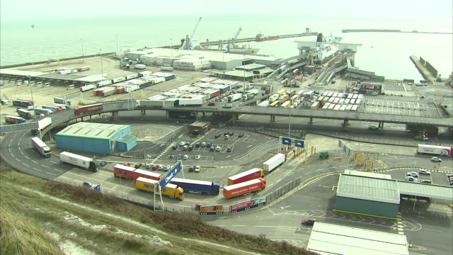 this morning mps have warned there is a real prospect of disrupton and delays at uk ports when the country leaves the eu the public accounts... - dover england stock videos & royalty-free footage