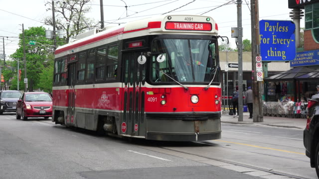 This obsolete streetcars are gradually being replaced by new Bombardier vehicles