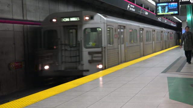 This old mode of transportation is being replaced by new Flexity Outlook Bombardier Trains The image is taken at the Bayview subway station in the...