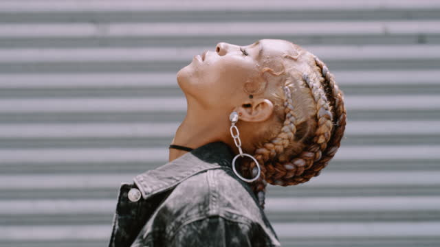 this queen gets her glow from the sun - braided hair stock videos & royalty-free footage
