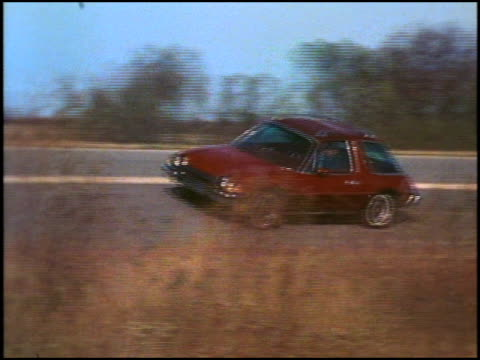 this rough footage, shot in october 1974, is the second of 2 montages featuring the as-yet unintroduced 1975 amc pacer. these clips feature a pacer... - image montage stock videos & royalty-free footage