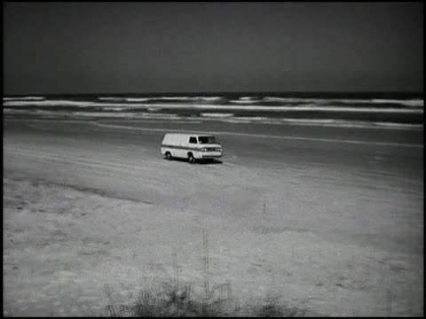 this sequence starts out with frightening shots of the ford econoline pickup truck nosediving as it stops suddenly. then the trucks are compared for... - シボレー点の映像素材/bロール
