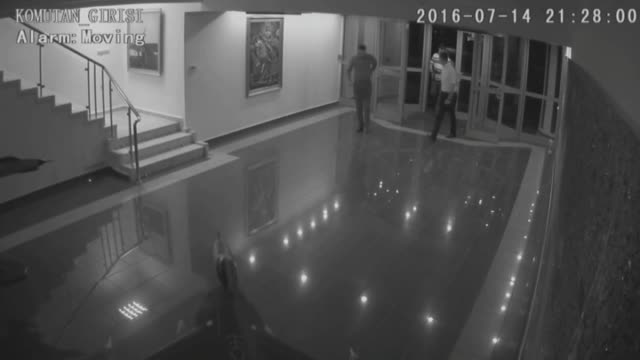this video footage by security camera dated on july 14 2016 shows twenty military officers who took part in parallel state/gulenist terrorist... - staatsstreich stock-videos und b-roll-filmmaterial