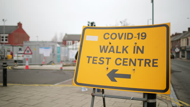 this way for a covid-19 test - medical examination stock videos & royalty-free footage