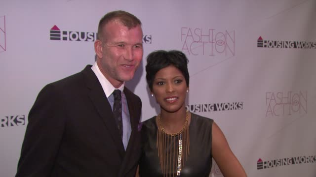 thom browne and tamron hall at the housing works' fashion for action 2010, chaired by thom browne at new york ny. - tamron hall stock videos & royalty-free footage