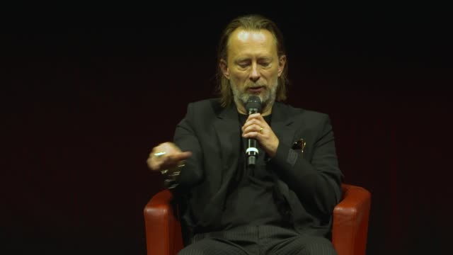thom yorke on his relationship to john williams and on hollywood soundtracks at the close encounter with thom yorke during the 15th rome film... - rome film festival点の映像素材/bロール