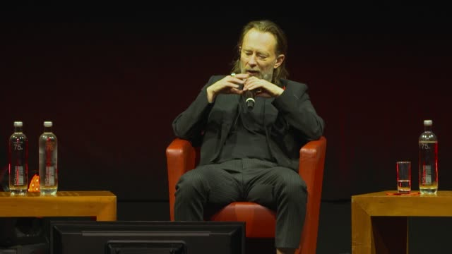 thom yorke on the soundtracks of john williams at the close encounter with thom yorke during the 15th rome film festival on october 24, 2020 in rome,... - rome film festival点の映像素材/bロール