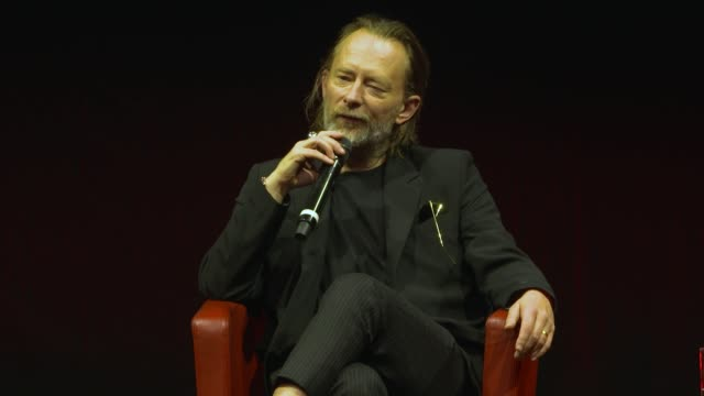 thom yorke on watching 'close encounters of the third kind' for the first time at the close encounter with thom yorke during the 15th rome film... - rome film festival点の映像素材/bロール