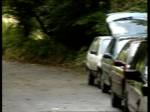 stockvideo's en b-roll-footage met former duchess of york aide jane andrews arrested den shiulie ghosh england cornwall ext layby where police officers found jane andrews in her car... - crime and murder