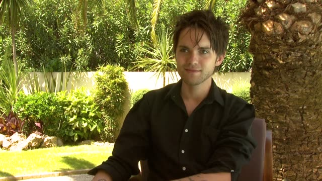 Thomas Dekker on how he fakes masturbation during the audtion and how there was no real sex in the film at the Kaboom Interviews Cannes Film Festival...