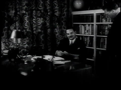 Thomas Dewey working in his office / Albany New York United States