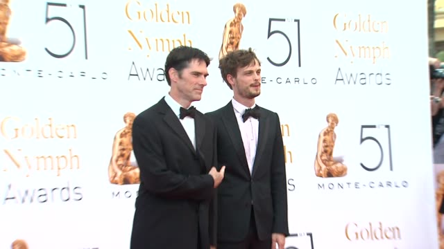 thomas gibson and matthew gray gubler at the 51st monte-carlo television festival - 2011 golden nymph awards at monte-carlo . - thomas gibson stock videos & royalty-free footage