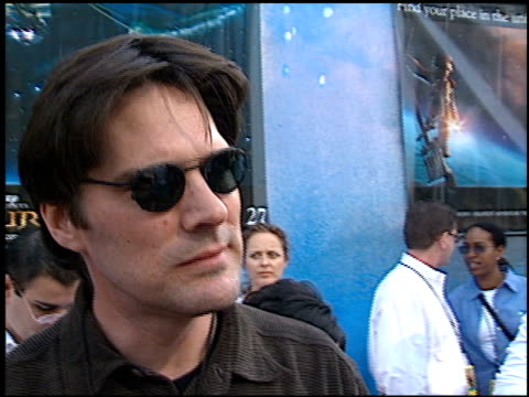 thomas gibson at the 'treasure planet' premiere at the cinerama dome at arclight cinemas in hollywood, california on november 17, 2002. - thomas gibson stock videos & royalty-free footage