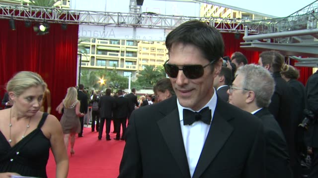 thomas gibson on how he doesn't take it all too seriously. at the 51st monte-carlo television festival - 2011 golden nymph awards at monte-carlo . - thomas gibson stock videos & royalty-free footage