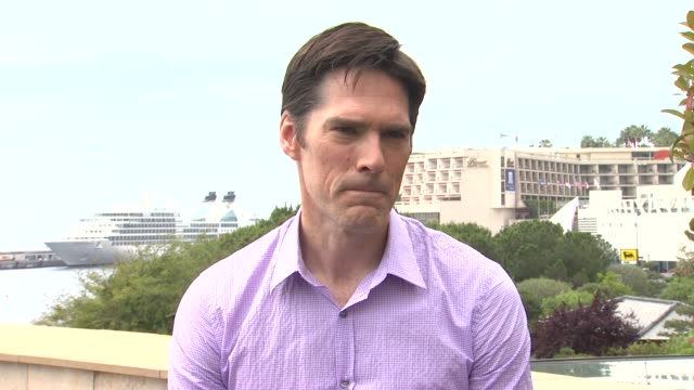 thomas gibson on loving meeting the dedicated fans at the 51st monte-carlo television festival - thomas gibson interview at monte-carlo . - thomas gibson stock videos & royalty-free footage
