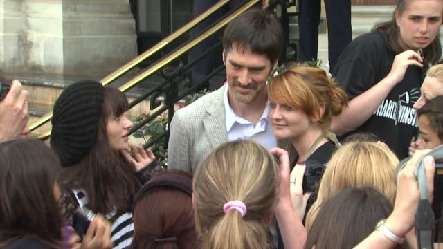 thomas gibson poses with fans at the 51st monte-carlo television festival in monte-carlo 06/06/11 at the 51st monte-carlo television festival -... - thomas gibson stock videos & royalty-free footage