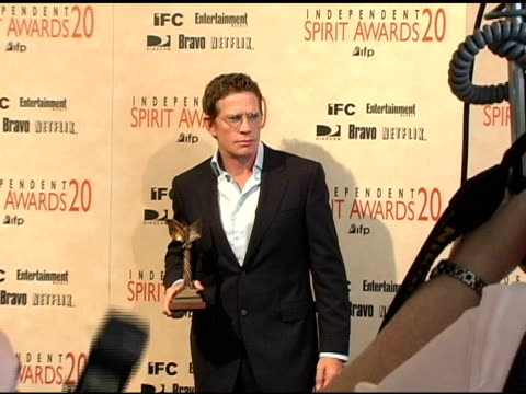 "Thomas Haden Church winner Best Supporting Male for ""Sideways"" at the 20th Annual Independent Spirit Awards press room at Santa Monica in Sabta..."
