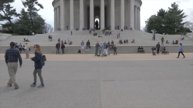 thomas jefferson memorial and visitors, washington dc, united states of america, north america - jefferson memorial stock videos and b-roll footage