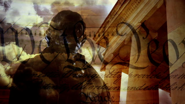 thomas jefferson memorial composite - patriotism stock videos & royalty-free footage