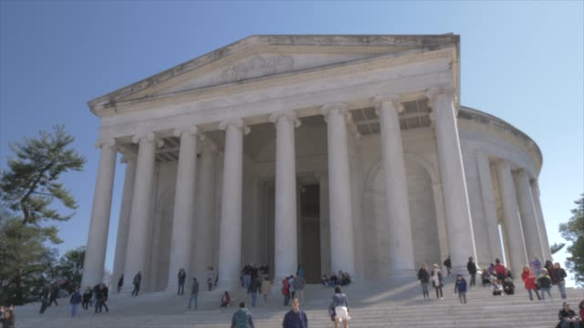 thomas jefferson memorial exterior, washington dc, united states of america, north america - jefferson memorial stock videos & royalty-free footage
