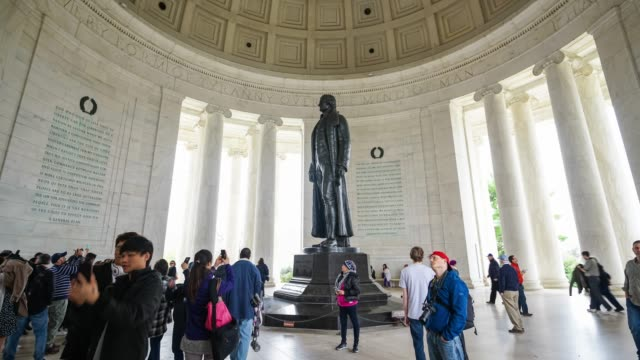 thomas jefferson memorial, in washington, dc, usa - constitution stock videos & royalty-free footage